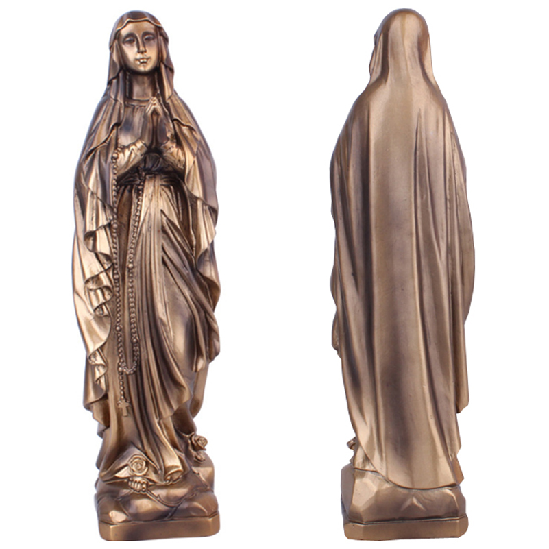 Resin Madonna Blessed Saint Virgin Mary Statue Figure Jesus Christ Tabletop Statue Figurine