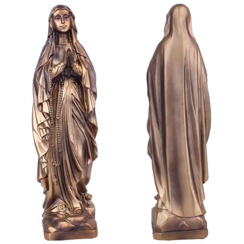 Resin Madonna Blessed Saint Virgin Mary Statue Figure Jesus Christ Tabletop Statue Figurine