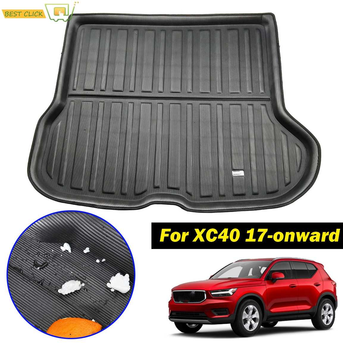 2017 /> TRAVALL RUBBER ALL WEATHER BOOT MAT LINER FOR VOLVO XC40