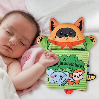 Baby Soft Cloth Book for Newborns 0 12 Months 3D Quiet Books Montessori Hand Puppet Educational Toy for 1 Year Old Boy Kids Gift 1