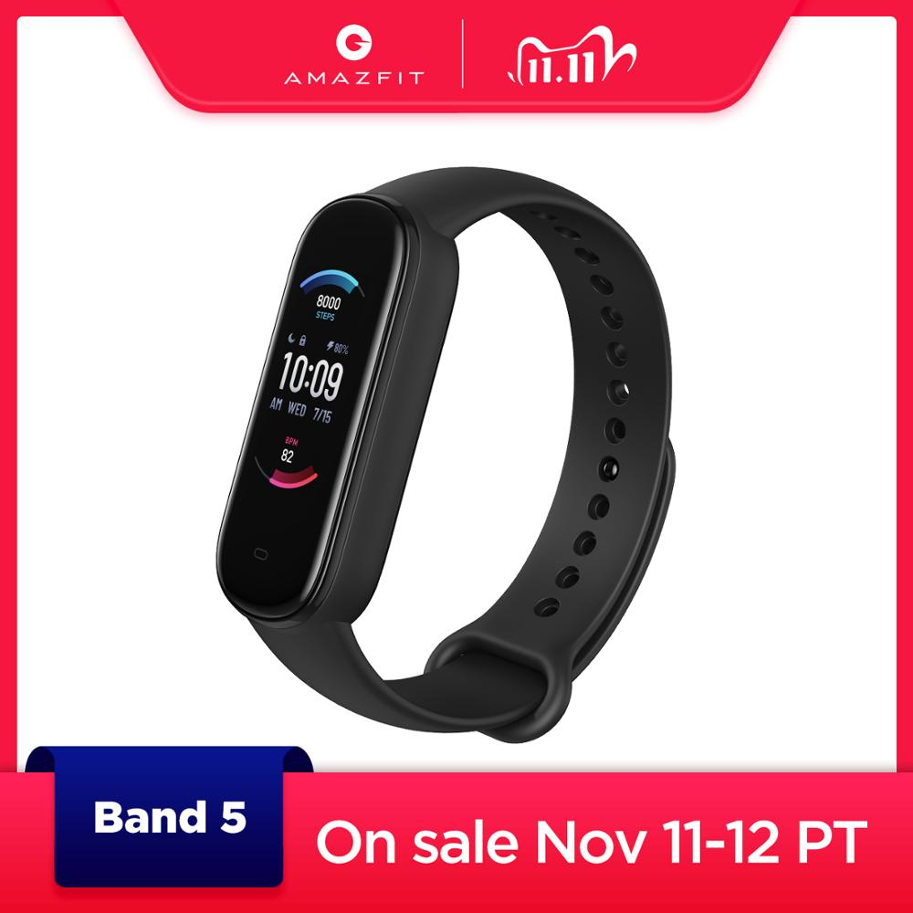 2020 New Amazfit Band 5 Smart Bracelet Color Display Heart Rate Fitness Tracker Waterproof Bluetooth 5 0 Sport Smart Wristband