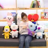 Muñeca de juguete de Peluche de dibujos animados de Kpop, Animal encantador de celebridad, conejo, caballo, oveja, Koala, corazón, perro, novia, regalo de Navidad