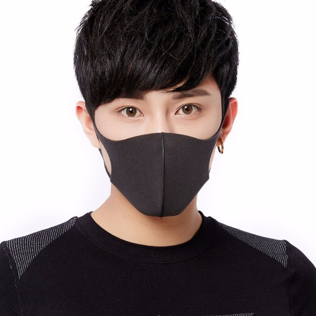 Adult Anti Flu Windproof Mouth Mask 3D Fashion Black Color Reusable Earloop Washable Dust Soft Breathable Anti-virus Face Mask 1