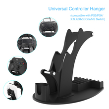 3 in 1 Dual Game Controller Holder for Nintendo Switch Pro PS5 PS4 Xbox Series S X One Headphone Stand Game Disc Rack