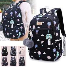 Cartoon Pattern School Bags for Teenage Girls Kids High capacity Children Student Backpack Teen Shoulder Bag Child Schoolbag cheap Fengdong Polyester zipper 0 68kg waterproof nylon 48cm BBL-1001 16cm 32cm