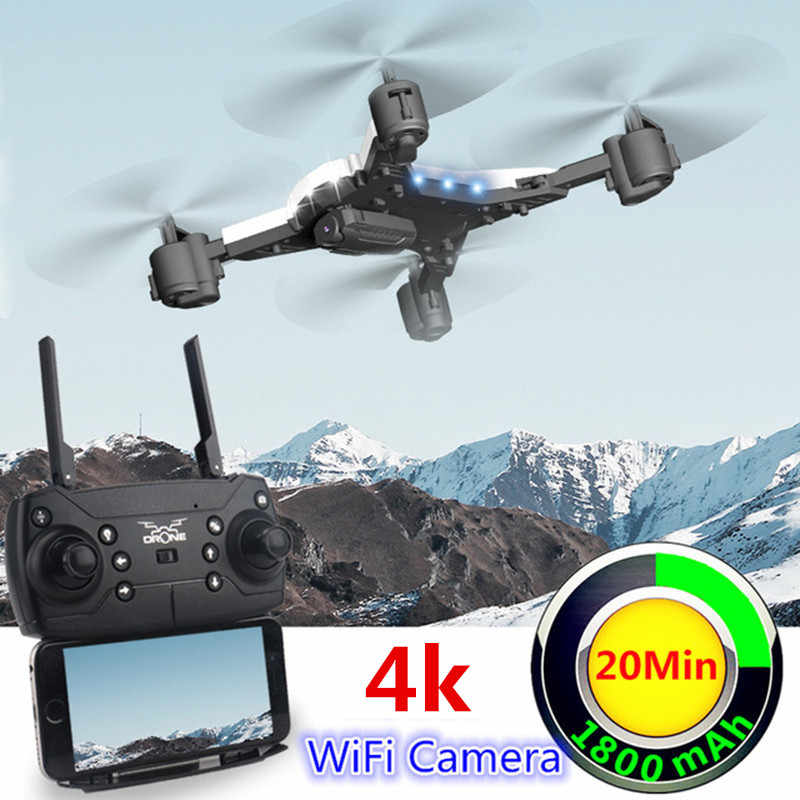 New RC Drone with Camera 4K Selfie Drones with 16MP Camera HD Foldable Quadcopter Quadrocopter with Camera Fly 18 Mins VS E58