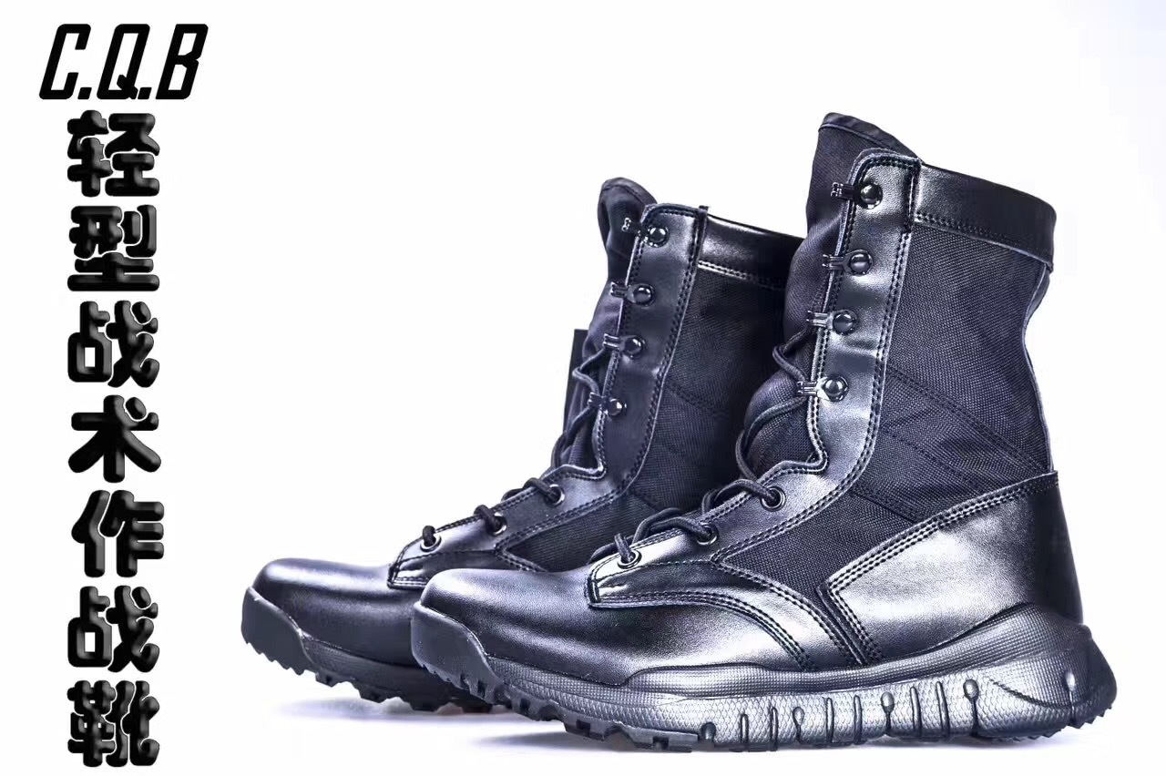 Combat Boots Men's Special Forces CQB Hight-top Cold Cotton Boots Ultra-Light 07 Combat Boots Genuine Leather Black Training Sho