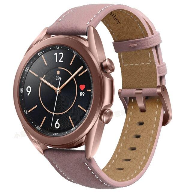 Ремешок для часов кожаный, 20-22 мм