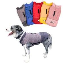 Large Dogs Vest Reversible Dog Jacket Winter Warm Dog Coats Waterproof Dog Clothes For Husky Golden Retriever Labrador Pitbull