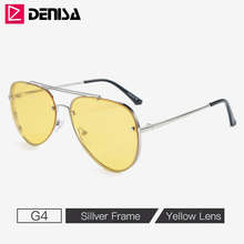 DENISA 2020 Yellow Aviation Sunglasses Women Polarized Women