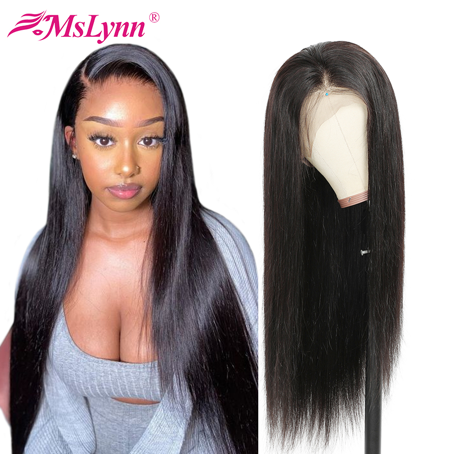 360 Lace Frontal Wig Straight Lace Front Human Hair Wigs For Women Brown Lace Front Wig Pre Plucked With Baby Hair Mslynn Remy