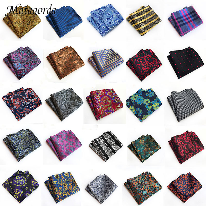 66-color Men Hanky Pocket Squared Handkerchief 100% Silk Hankerchief Flower Paisley Floral Wedding Party Gift For Man Accessory