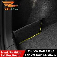 폭스 바겐 폭스 바겐 골프 7 7.5 MK7 MK7.5 2013   2019 트렁크 파티션 테일 박스 실드 보드의 차량 보관 파티션 측면