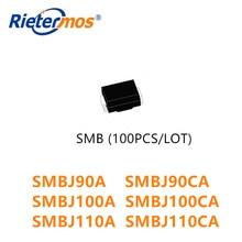 100 sztuk SMBJ90 SMBJ90A SMBJ90CA SMBJ100 SMBJ100A SMBJ100CA SMBJ110 SMBJ110A SMBJ110CA małych i średnich firm wysokiej jakości