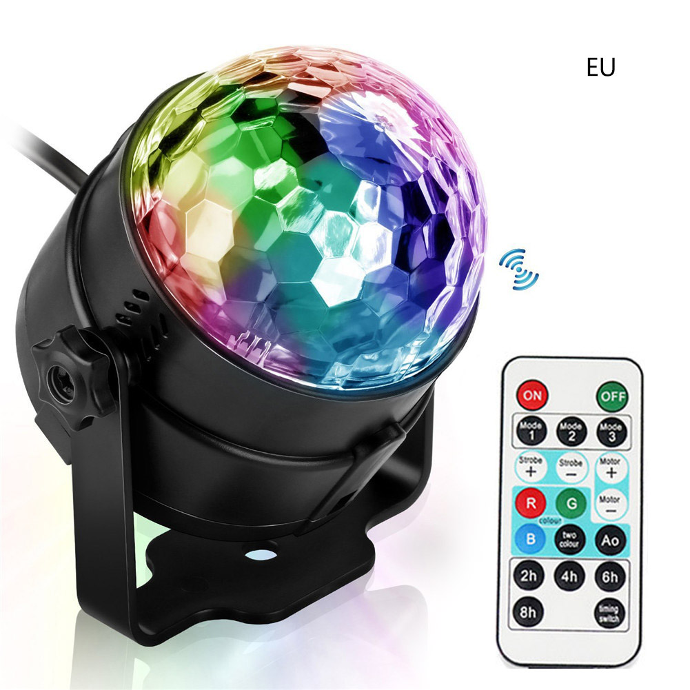 Party Lights Sound Activated With Remote Halloween Disco Ball Light Rotating LED Stage Lights LB88