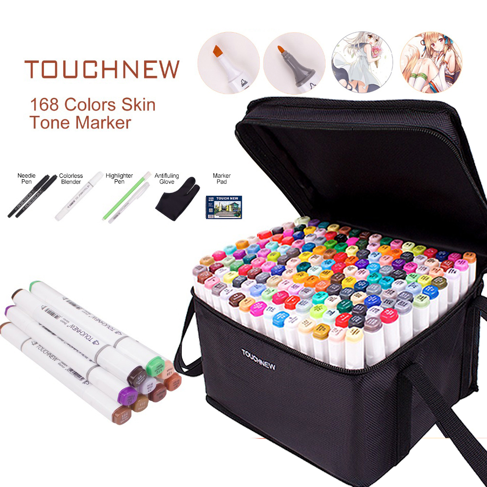 Deal√Pens Drawing-Marker-Pen Sketchbook Painting Graphic Art Gift Alcohol TOUCHNEW 168-Colors