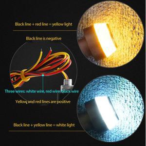 2 PCs Yellow Universal Indicator Flasher Handle Bar Blinker Side Marker Lamp LED Motorcycle Handlebar End Turn Signal Light
