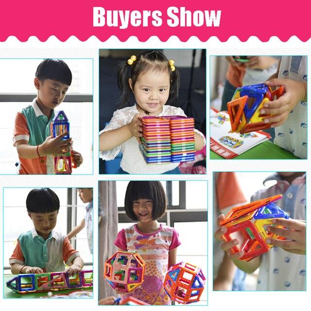 BIG SIZE 158PCS Magnetic Blocks Magnetic Designer Construction 3D Model Magnetic Blocks Educational Toys For Children