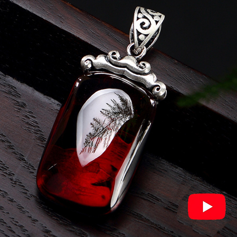 NOT FAKE S925 Fine Antique Shop Store Ruby Pendant For Necklace Women Handmade Vintage Natural Carnelian Ruby  Red Jasper Red