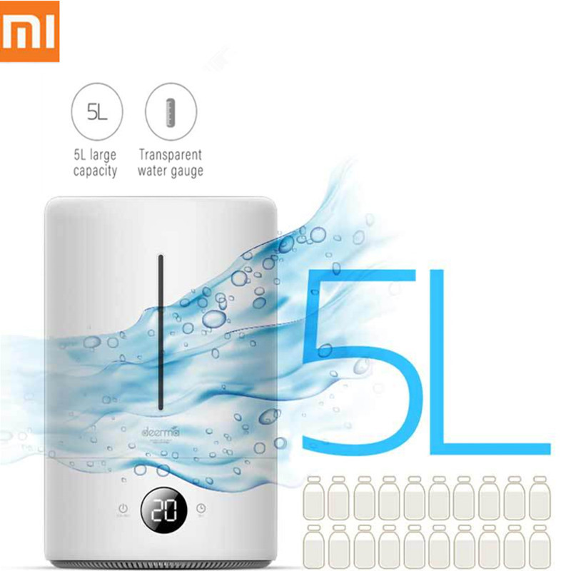 Xiaomi 5L Air Humidifier Air Purifying Mist Maker Household Ultrasonic Diffuser Aromatherapy For Office Home Touch Screen