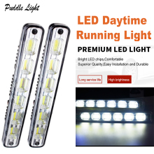 цена на 2pcs COB LED Daytime Running Light Day Light LED light bar Car Waterproof DRL Auto Driving Lamp External Light car accessories