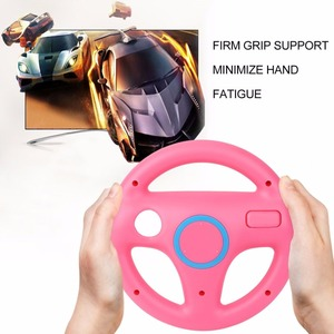 3 Color Plastic Innovative and ergonomlc design Game Racing Steering Wheel for Nintendo Wii for Mario Kart Remote Controller(China)
