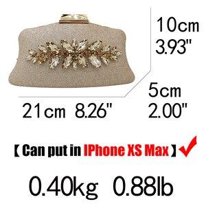 Image 5 - Boutique de fgg glitter feminino embreagem cristal sacos de noite nupcial formal jantar bolsas e bolsas festa casamento diamante saco