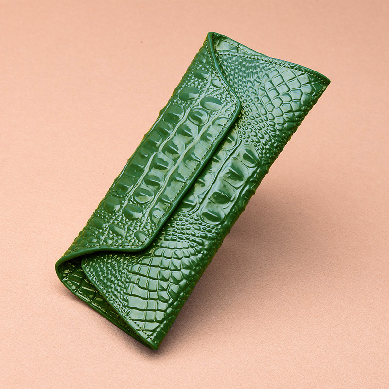 Genuine Leather Crocodile Women's Wallets Casual Long Ladies Wallet Clutch Bag Designer Card Holder Purses Female Phone Pouch