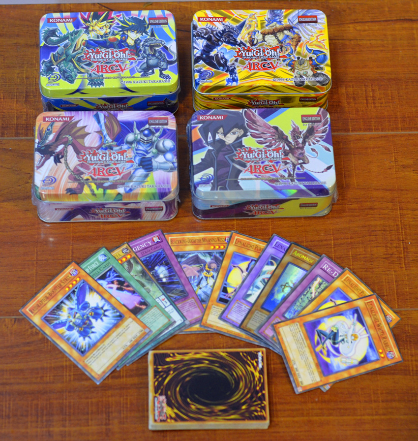 41pcs/set Yu Gi Oh Game Cards Classic YuGiOh Game English Cards Carton Collection Cards with Flash Card and Metal Tin Box Toys