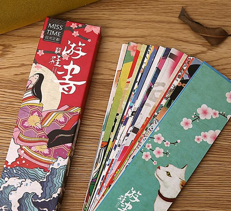 30PCS/LOT Vintage Japan Fashion Creative Floral Cultural Bookmarks 15cm*4cm