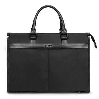 Homme sac à main 15 pouces affaires mallette Section transversale Nylon étanche designer luxe sacs à main en cuir véritable messenger
