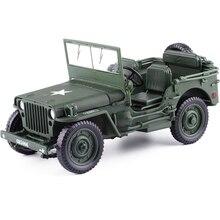 1:18 טקטי צבאי דגם ישן מלחמת העולם השני וויליס הצבאי כלי רכב סגסוגת רכב דגם לילדים צעצועי מתנות משלוח חינם