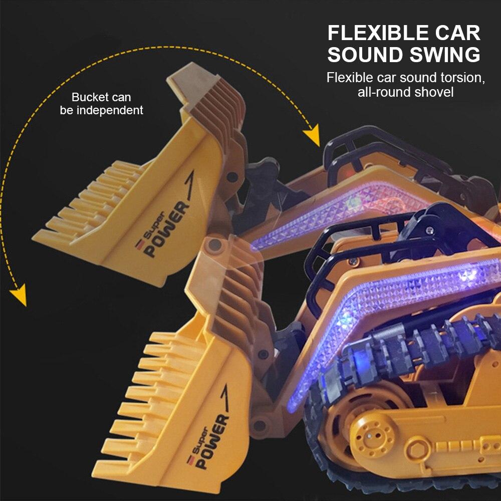 1:16 RC camion Bulldozer Dumper Caterpillar tracteur modèle ingénierie voiture pelle pousser sol musique effets d'éclairage enfants jouets - 2