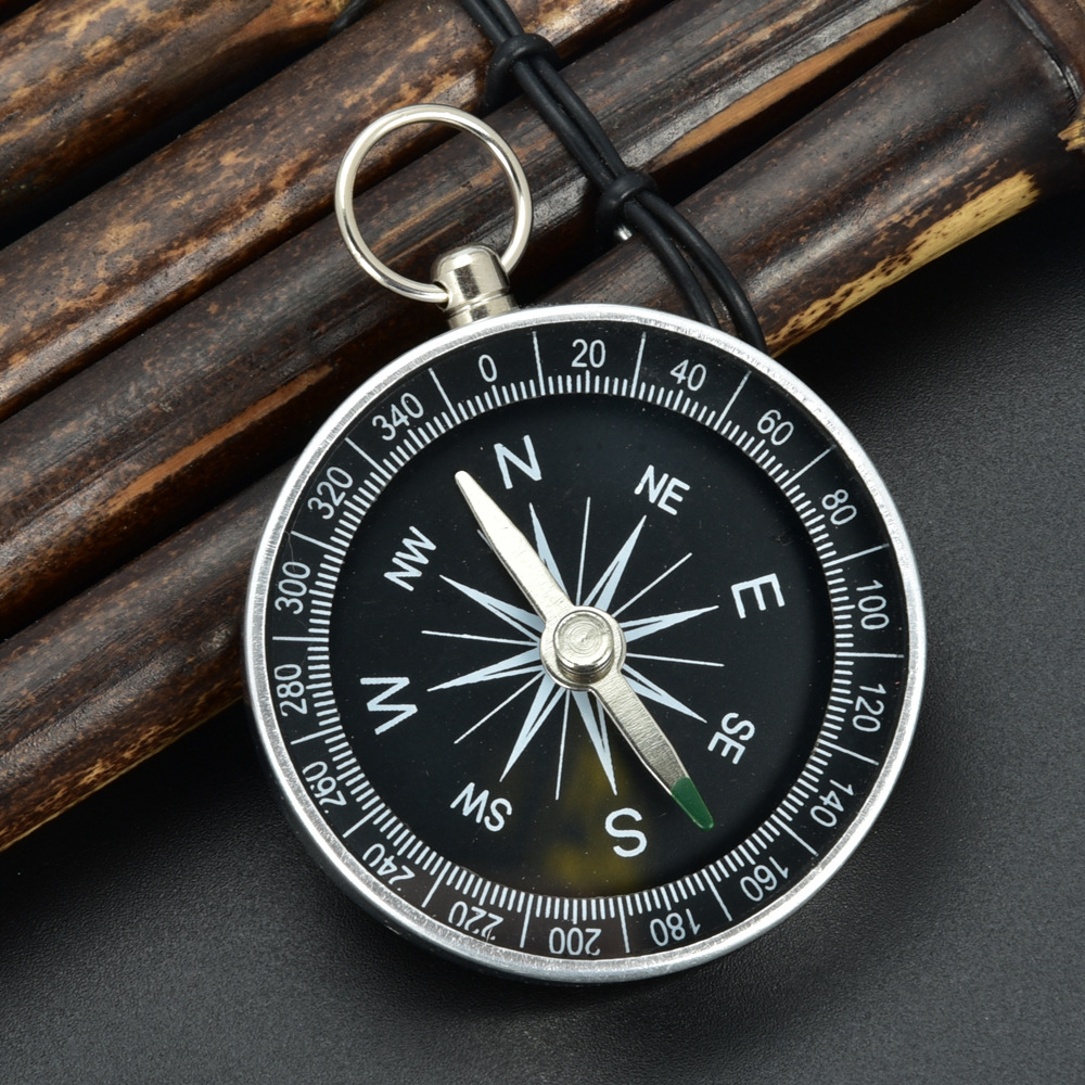 Portable Aluminum Lightweight Emergency Compass Outdoor Survival Compass Tool G44-2 Navigation Wild Tool Black Brujula Chaveiro