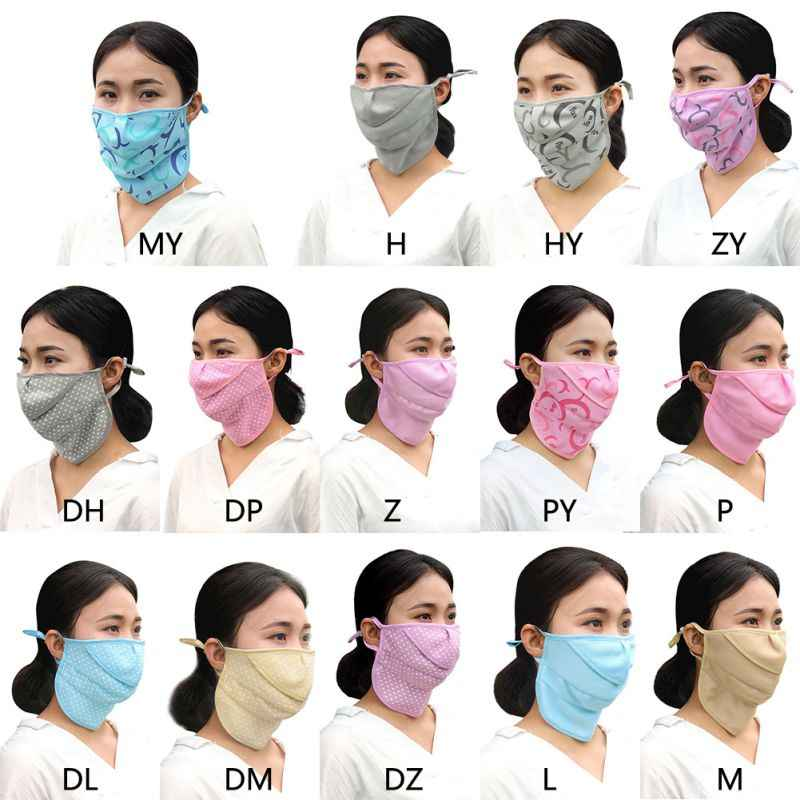 Women  UV Face Mask Summer Sun Protective Face Neck Mask Outdoor Cycling Riding Dustproof Anti-uv Sun Block Face Mask