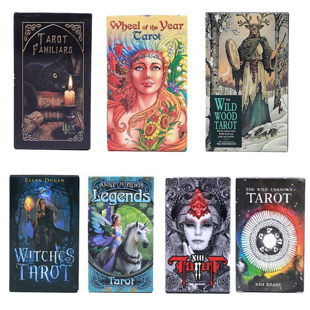 Tarot Cards Party Forecasting Future Telling Fate English Version Mythic Mysterious Entertainment Magical Deck Board Games