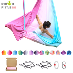 New Ombre Aerial Fly Yoga Hammock Set 5mx2.5m Anti Gravity Yoga Belts For the yoga Exercise Air Swing Bed Trapeze