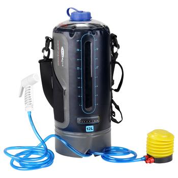 Prysznic ciśnieniowy PVC z pompka nożna prysznic worek na wodę prysznic na zewnątrz prysznic ciśnieniowy worek na wodę na zewnątrz plaża Camping kąpiel tanie i dobre opinie CN (pochodzenie) 965g 2 1lb 400 * 280mm