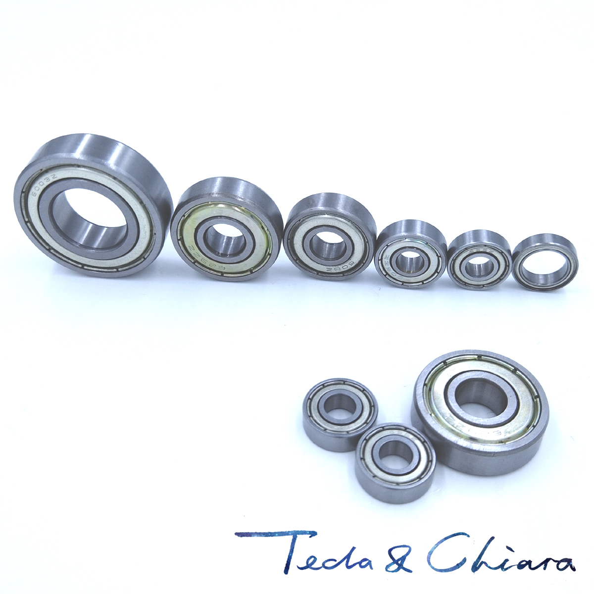 10Pcs 6204-2Z <font><b>6204ZZ</b></font> <font><b>6204zz</b></font> 6204 zz Deep Groove Ball Bearings 20 x 47 x 14mm Free shipping High Quality image