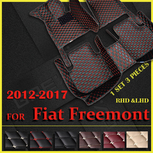Araba paspaslar Fiat Freemont için beş koltuk 2012 2013 2014 2015 2016 2017 özel oto ayak pedleri otomobil halı kapak