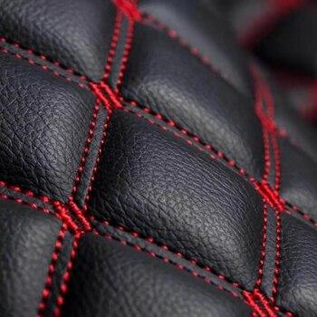 Hand Craft Car Floor Mats 5D PU Leather Embroidery Plaid Custom Floor Mats For Toyota 4Runner 2013-2020