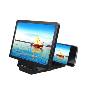 Lupa de vídeo para pantalla de teléfono 3D, soporte plegable para escritorio, amplificador estereoscópico, soporte para tableta o teléfono, Protector de ojos de cristal