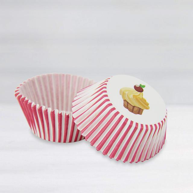 Striped Cupcakes Baking Bowl Set 40 Pcs