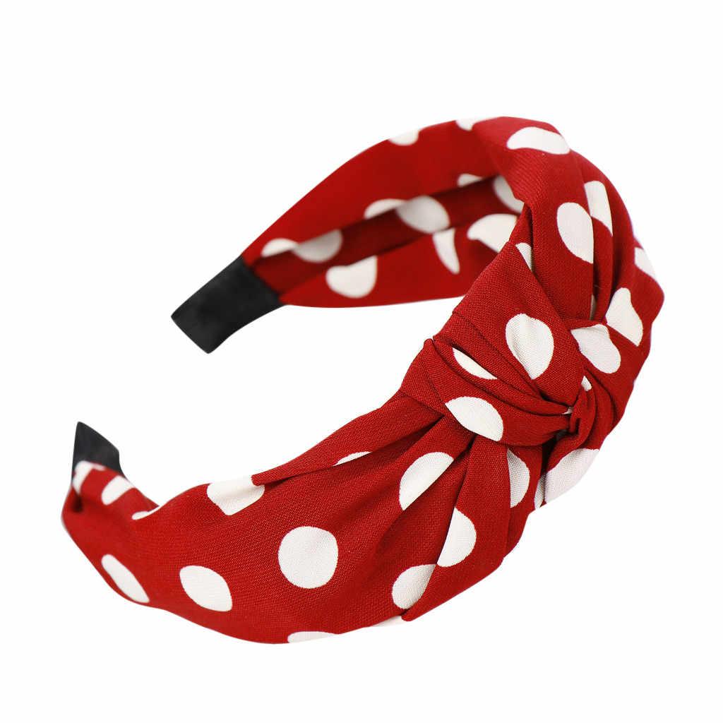 JAYCOSIN Hoofdband Bow Knot Tulband Hoofdband Elastische Haar Hoepel Accessoires voor Meisjes Geen Slip Verblijf op Geknoopt Head band Haar band