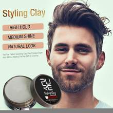 PURC Hair Wax High Hold Hair Clay Non-greasy Hair Styling Long Lasting Effect Pomade Man Matte Finished Hair Styling Clay 80ml(China)