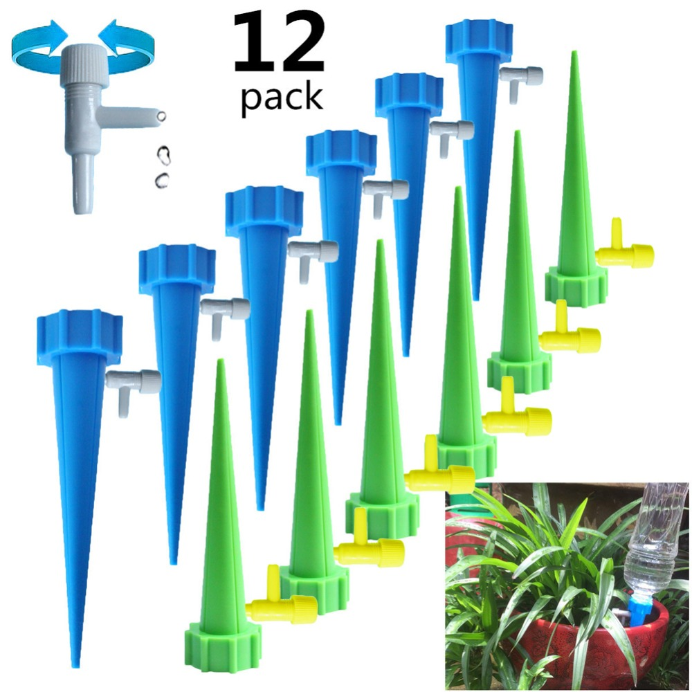 12/20/30/50PCS Self-contained Auto Drip Irrigation Watering System Automatic Watering Spike for Plants Flower Indoor Household Best Children's Lighting & Home Decor Online Store