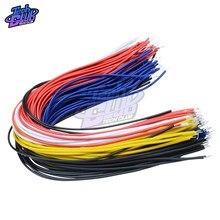 100PCS 5 Colore 100Pcs Doppia Testa PCB Saldatura del Cavo 20CM Breadboard Fly Jumper Cable Wire Tin Conduttore
