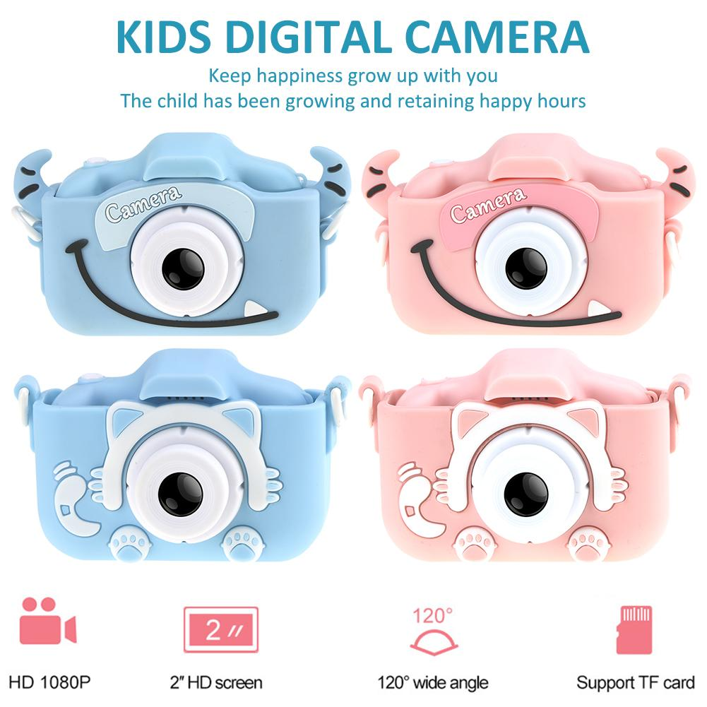 Newest High Quality Children's Camera Mini 12 Million Pixels 1080P HD Digital Camera For Kids Birthday Gift