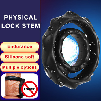 Male Chastity Device Silicone Penis Rings Reusable  Delay Delay Ejaculation Cock Rings Adult Toys Erotic Toy Sex Toys for Men male chastity belt sex product shop erotic penis ring time delay premature ejaculation lock cock rings sex toys for adults men