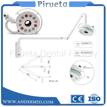 36W Ceiling Mount LED Surgical Medical Exam Light Dental Shadowless Lamp 360 Rotation CE Wall Hanging Type LED Lamp dental wall anging medical surgical oral lamp shadowless cold light with arm